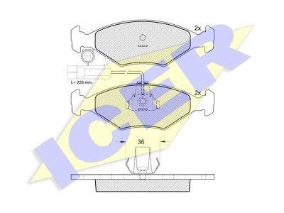 Prednje zavorne obloge IE181226 - Fiat Palio 97-
