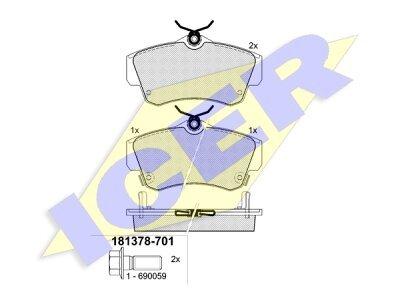 Prednje zavorne obloge IE181378-701 - Chrysler PT Cruiser 00-10