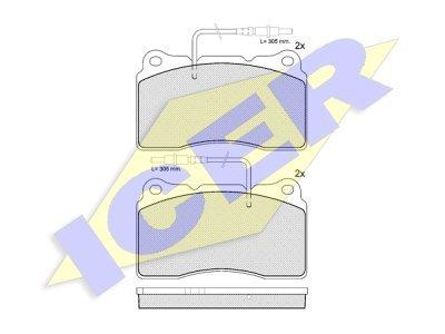 Prednje zavorne obloge IE181424 - Peugeot 607 00-