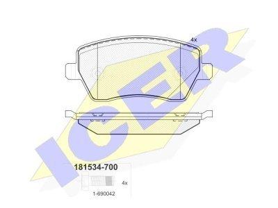 Prednje zavorne obloge IE181534-700 - Dacia Dokker 12-