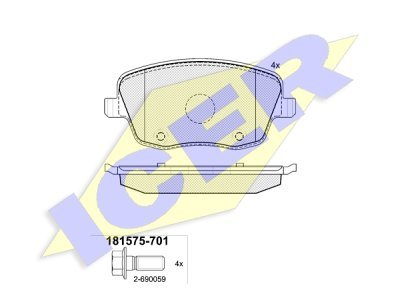 Prednje zavorne obloge IE181575 - Seat, Škoda, Volkswagen