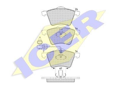 Prednje zavorne obloge IE181605 - Ford, Seat, Volkswagen