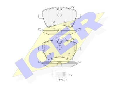 Prednje zavorne obloge IE181756 - Mini Countryman 10-