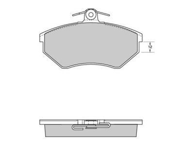 Prednje zavorne obloge S70-0005 - Audi, Seat