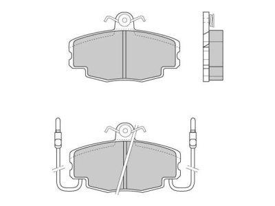 Prednje zavorne obloge S70-0006 - Dacia, Renault