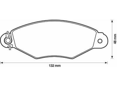 Prednje zavorne obloge S70-0047 - Citroen, Renault
