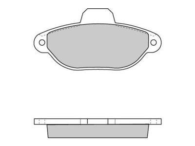 Prednje zavorne obloge S70-0050 - Fiat, Lancia