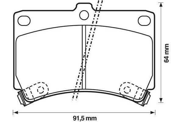 Prednje zavorne obloge S70-0063 - Kia Rio 00-05