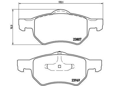 Prednje zavorne obloge S70-0208 - Chrysler Voyager 00-08