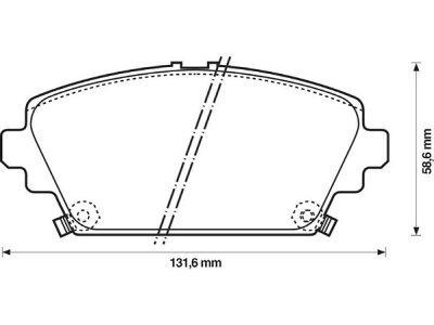 Prednje zavorne obloge S70-0253 - Nissan