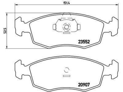 Prednje zavorne obloge S70-0269 - Fiat