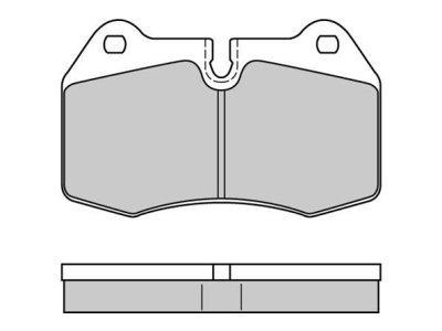 Prednje zavorne obloge S70-0295 - BMW