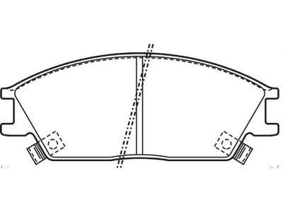 Prednje zavorne obloge S70-0309 - Hyundai Accent 94-06