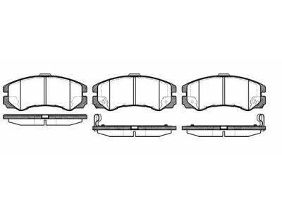 Prednje zavorne obloge S70-0339 - Opel Frontera 91-03