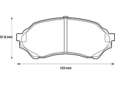 Prednje zavorne obloge S70-0416 - Mazda 323 98-03