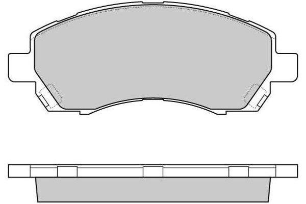 Prednje zavorne obloge S70-0424 - Subaru Impreza 92-00