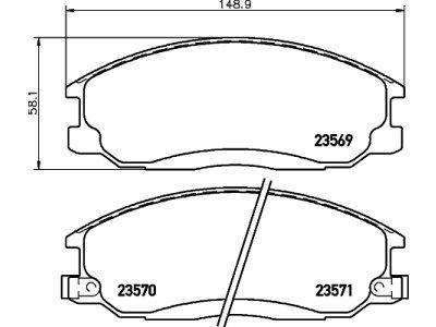 Prednje zavorne obloge S70-0436 - Hyundai Santa Fe 01-06