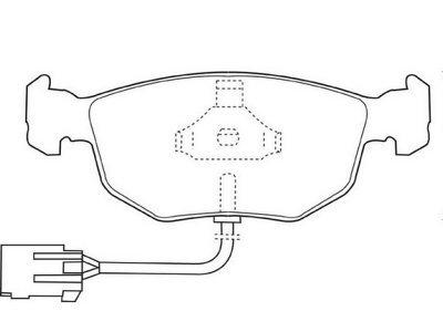 Prednje zavorne obloge S70-0453 - Ford