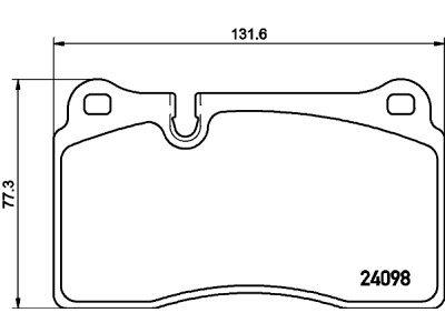 Prednje zavorne obloge S70-0491 - Volkswagen Touareg 02-