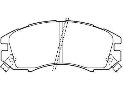 Prednje zavorne obloge S70-0505 - Subaru