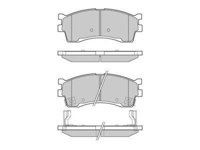 Prednje zavorne obloge S70-0519 - Kia Sephia 92-04