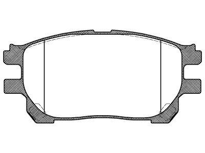 Prednje zavorne obloge S70-0554 - Toyota Previa 00-05
