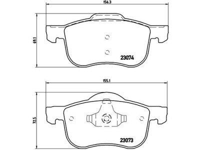 Prednje zavorne obloge S70-1184 - Volvo