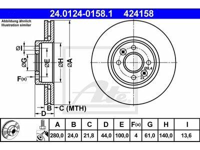 Prednji diskovi kočnica 24.0124-0158.1 - Renault Wind 10-