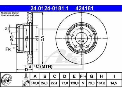 Prednji diskovi kočnica 24.0124-0181.1 - BMW Serije 5 01-10