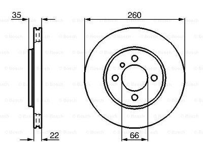 Prednji diskovi kočnica BS0986478036 - BMW Serije 3 83-94
