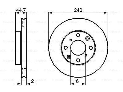 Prednji diskovi kočnica BS0986478115 - Honda Civic 92-01