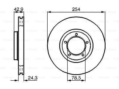 Prednji diskovi kočnica BS0986478160 - Ford Transit 92-00
