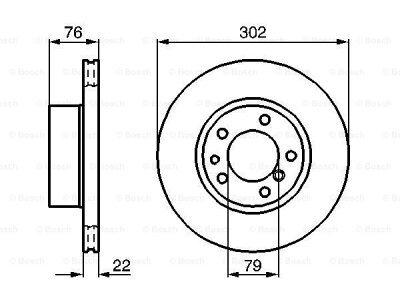 Prednji diskovi kočnica BS0986478318 - BMW Serije 5 88-96