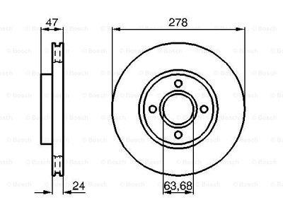 Prednji diskovi kočnica BS0986478427 - Ford Mondeo -96-00