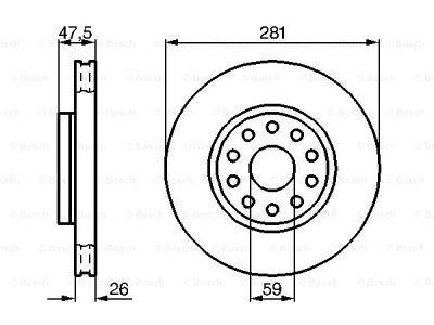 Prednji diskovi kočnica BS0986478460 - Alfa Romeo 166 98-09