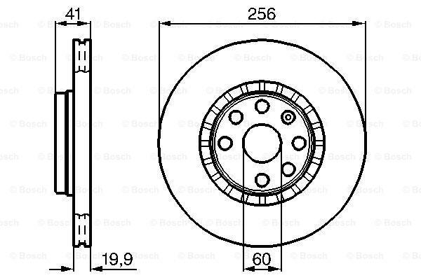 Prednji diskovi kočnica BS0986478535 - Opel Tigra 94-01