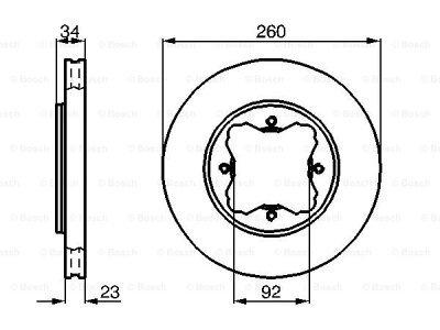Prednji diskovi kočnica BS0986478568 - Honda Accord 90-96
