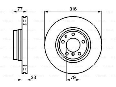 Prednji diskovi kočnica BS0986478622 - BMW Serije 7 94-01