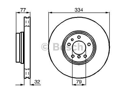 Prednji diskovi kočnica BS0986478623 - BMW Z8 00-03