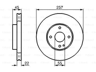 Prednji diskovi kočnica BS0986478638 - Mazda MX3 91-