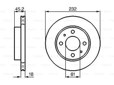 Prednji diskovi kočnica BS0986478650 - Nissan Almera 95-00