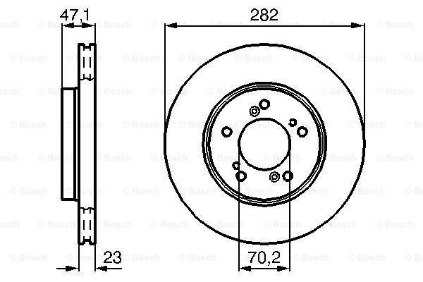 Prednji diskovi kočnica BS0986478667 - Honda Integra 93-01