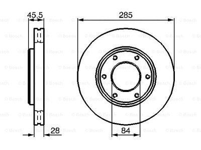 Prednji diskovi kočnica BS0986478693 - Toyota Hiace 95-06