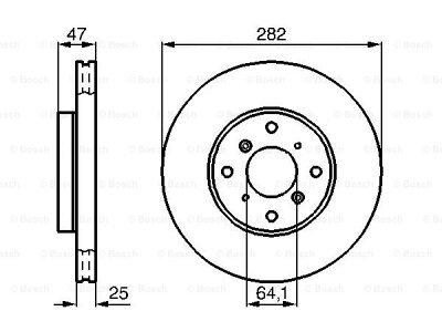 Prednji diskovi kočnica BS0986478982 - Honda Accord 98-02