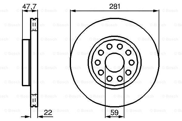 Prednji diskovi kočnica BS0986478993 - Lancia Kappa 94-01