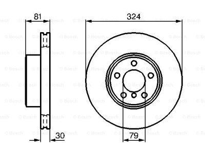 Prednji diskovi kočnica BS0986479002 - BMW Serije 7 01-08