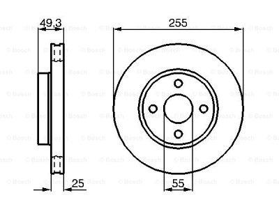 Prednji diskovi kočnica BS0986479084 - Toyota Corolla 02-08