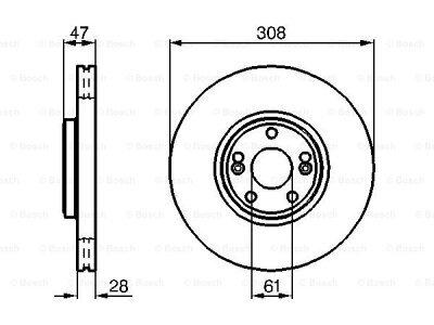 Prednji diskovi kočnica BS0986479198 - Renault Laguna 01-07
