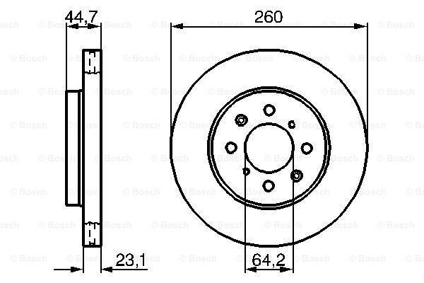 Prednji diskovi kočnica BS0986479226 - Honda Civic 01-05