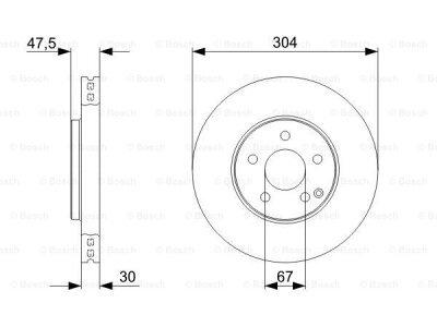 Prednji diskovi kočnica BS0986479333 - Mercedes-Benz Razred E 02-09